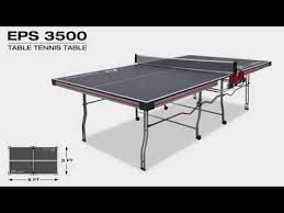 rec tek ping pong table eps 3500 table tennis table youtube