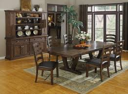 Tropical Dining Room Furniture Pendant Light Fixture And Classic Chandelier Combined Black Wooden