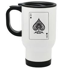 ace spades travel mug