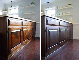 How Do I Refinish Kitchen Cabinets Using Polyshades To Darken Our Wood Cabinets Stain Cabinets