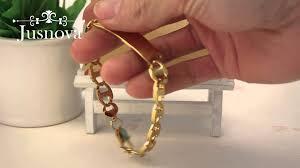 mens gold hand bracelet images Jusnova splendid stainless steel gold hand chain bracelet for men jpg