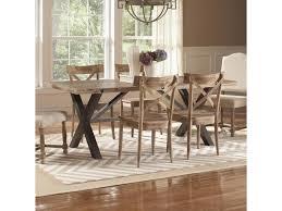 dining room trestle table largo callista rustic casual rectangular trestle table olinde u0027s