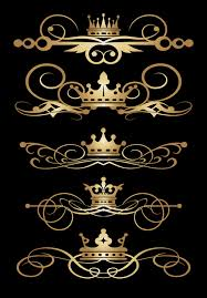 crown with ornaments golden vector vector ornament free
