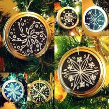 diy mason jar lid chalk snowflake ornaments shalom schultz designs