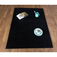 Solid Black Area Rugs Soft Black Shag Rug Wayfair