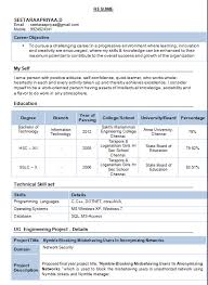 resume format for freshers electronics and communication engineers pdf free download resume templates