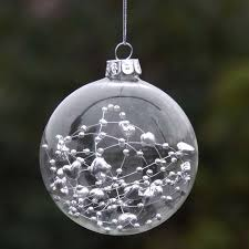 2017 glass clear baubles ornaments decorations