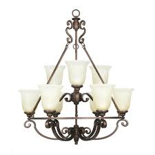 Home Depot Light Fixtures Dining Room by Fairview 9 Light Heritage Bronze Chandelier 14699 At The Home