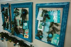 creative way to display christmas cards christmas lights decoration