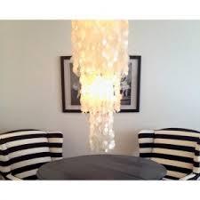 Round Capiz Chandelier Lighting Awesome Capiz Chandelier For Home Interior Lighting