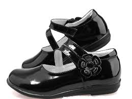 soft real leather black kids shoes formal party dress