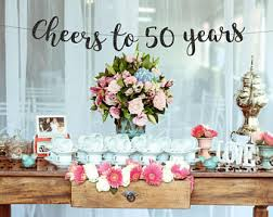 50th birthday flowers and balloons 50th birthday decor etsy