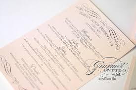 Regency Wedding Invitations Erin U0027s Vintage Blush And Grey Wedding Reception Gourmet Invitations