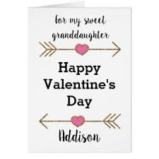 personalized granddaughter gifts granddaughter s day card personalized valentines day