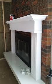 painted brick fireplace fresh crush