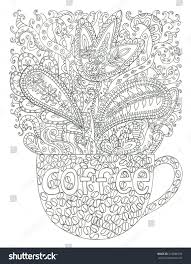 coffee cup coloring page stock illustration 349880534 shutterstock
