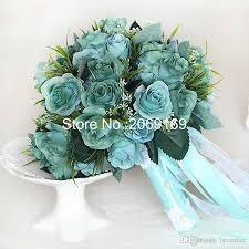 wedding flowers royal blue korean wedding chagne roses simulation wedding flower