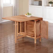 Space Saver Dining Table And Chairs Pleasing Folding Dining Table And Chair Set Amazing Small Home