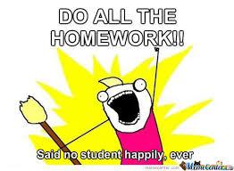 Do All The Meme - do all the homework by gleetorade meme center