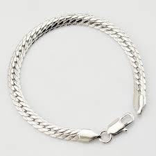 customized gold bracelets white gold color herringbone bracelet snake closed chain