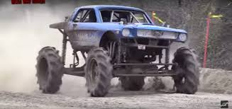 muddy monster truck videos classic 4x4 mustang mud truck knows how to get dirty