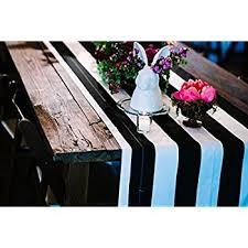 black white striped table runner amazon com lovemyfabric poly cotton 2 inch striped table runner for