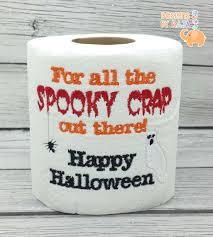 toilet paper halloween happy halloween embroidered toilet paper halloween decorations