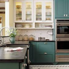 turquoise painted kitchen cabinets kitchen decoration