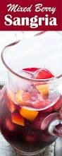 mixed berry red wine sangria made with red wine brandy orange