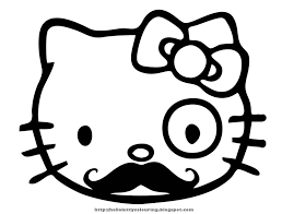 hello kitty color pages chuckbutt com