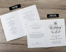 folded wedding programs folded wedding program template363 ksw exclusive invitations
