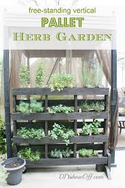 herb garden planter 25 amazing diy projects to repurpose pallets into garden planters