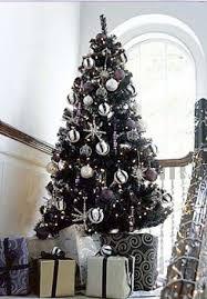 black trees happy holidays