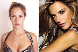 11 victoria 39 s secret models angels without make up alessandra ambrosio before after makeup