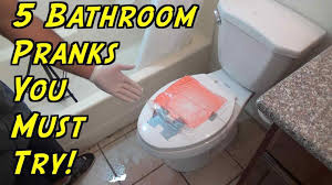 bathroom prank ideas ideas hoomantv easy april fools s easy bathroom prank