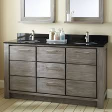bathroom furniture single vessel sink cream black white master