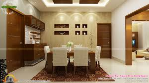 contemporary kitchen dining and living room kerala home design