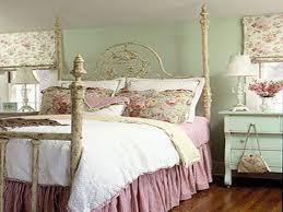 Rustic Vintage Bedroom - vintage room decorating ideas rustic wooden queen bed green floral