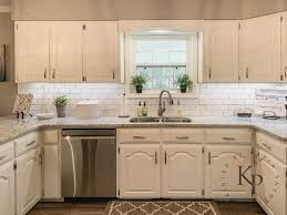 antique white kitchen cabinets with subway tile backsplash kitchen cabinets in alabaster painted by payne