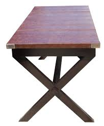 bourdon faux crocodile leather top writing desk u2013 mortise u0026 tenon