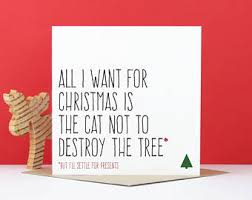 funny christmas card christmas tree cat cat christmas card