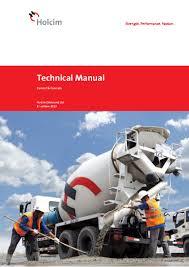 holcim technical manual english