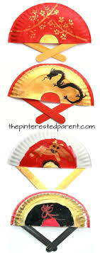 new year plates painted paper plate fans for new year or tet