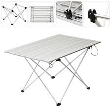 amazon com azcamp folding table with carrying case aluminum
