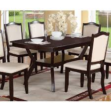 Black Dining Room Sets Amazon Com Modern Rectangular Wood 7 Pc Dining Table And Chairs