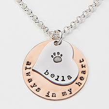 personalized photo pendant necklace personalized pet memorial necklace always in my heart