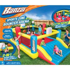 banzai sports zone bounce arena inflatable summer backyard