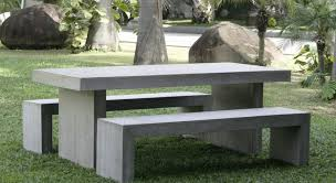 Concrete Patio Table Set Furniture Concrete Patio Table And Benches Bench Awesome