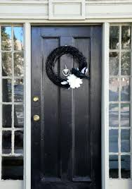 front door halloween decorations ideas black wreath pictures