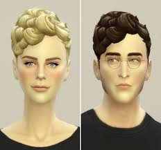 the sims 4 natural curly hair my sims 4 blog rusty nail pixi curl hair edit for males females